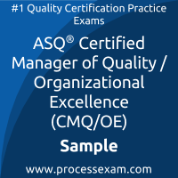 CMQ/OE Dumps PDF, Manager of Quality/Organizational Excellence Dumps