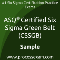CSSGB Dumps PDF, Six Sigma Green Belt Dumps