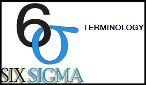 Terminology of six sigma