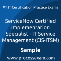 CIS-ITSM Dumps PDF, IT Service Management Implementation Specialist Dumps