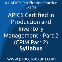 CPIM Part 2 dumps PDF, APICS CPIM Part 2 Braindumps