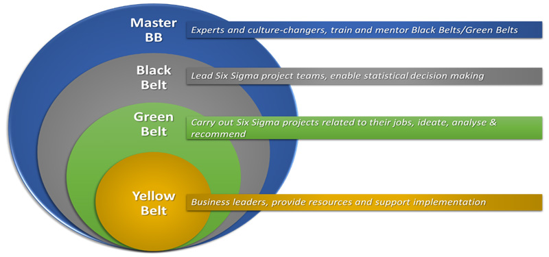 Six sigma certifications