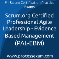 Scrum.org Certified Professional Agile Leadership - Evidence Based Management (P